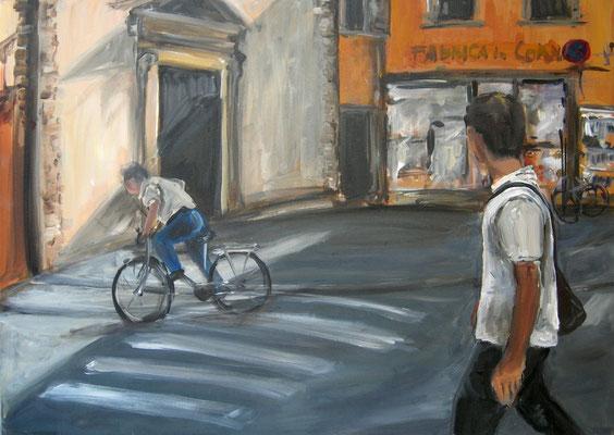 Straße, Acrylmalerei, 50 x 70 cm, 2012
