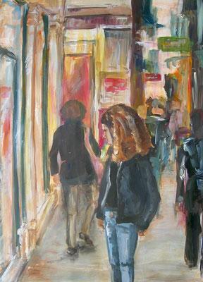 Schaufenster, Acrylmalerei, 80 x 60 cm, 2008, verkauft