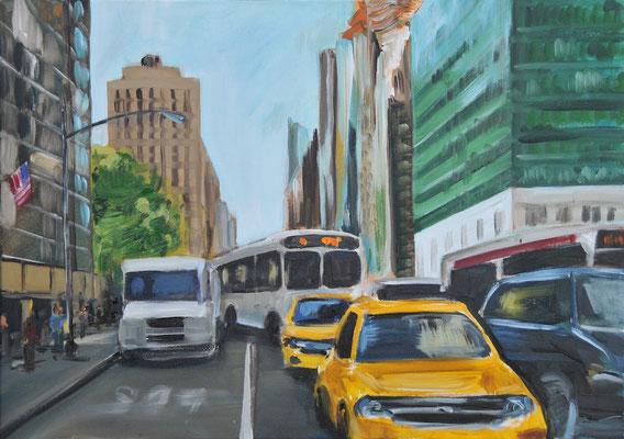 New York, Acryl auf Leinwand, 50 x 70 cm, 2015