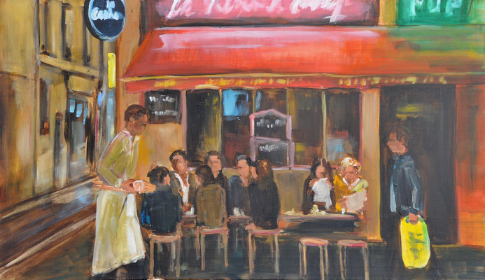 Bar Paris, Acryl auf Leinwand, 70 x 120 cm, 2016