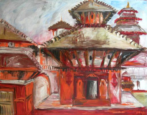 Tempel, Acryl auf Leinwand, 150 x 180 cm, 1992, verkauft