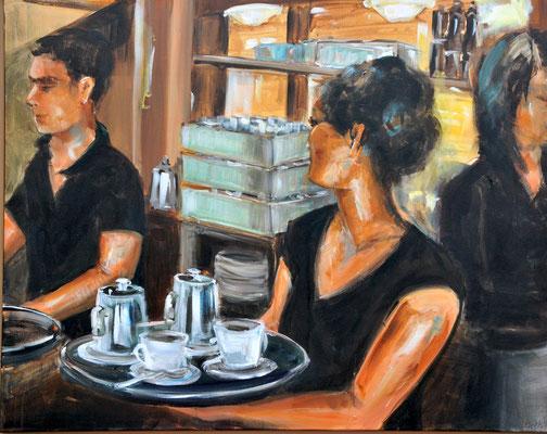 Café, Acryl auf Leinwand, 80 x 100 cm, 2014