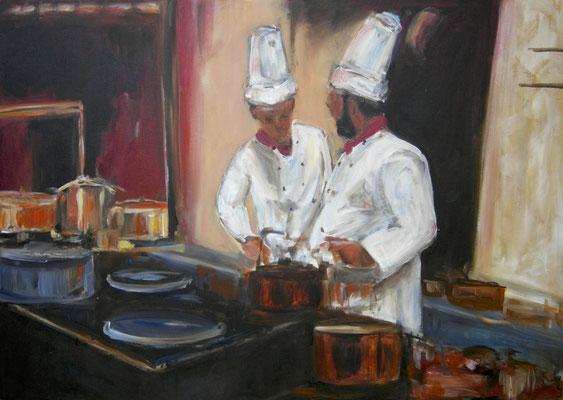 Küche, Acrylmalerei, 50 x 70 cm, 2009