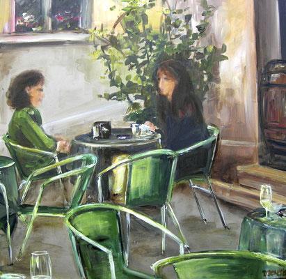 Café, Acrylmalerei, 70 x 70 cm, 2008