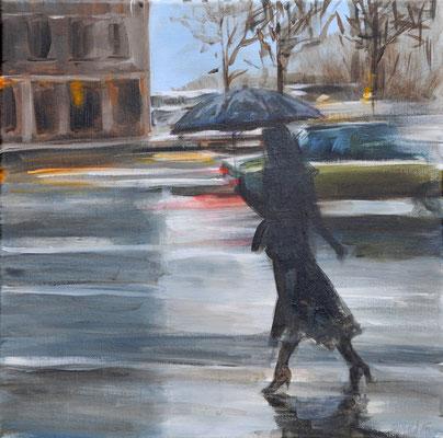 Regen, Acryl auf Leinwand, 40 x 40 cm, 2016