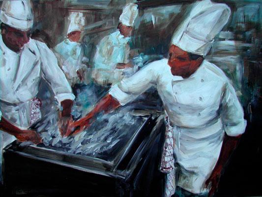 Köche, Acrylmalerei, 80 x 100 cm, 2009