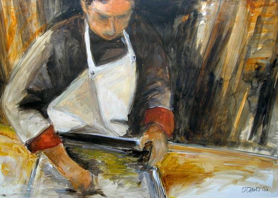 Koch, Acrylmalerei, 60 x 80 cm, 2009