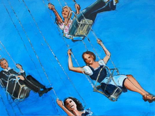 Kettenkarussell, Acryl auf Leinwand, 60 x 80 cm, 2012, verkauft