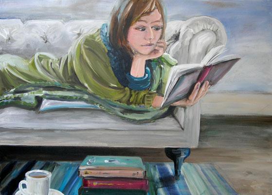 Sonntagnachmittag, Acrylmalerei, 60 x 80 cm, 2011, verkauft