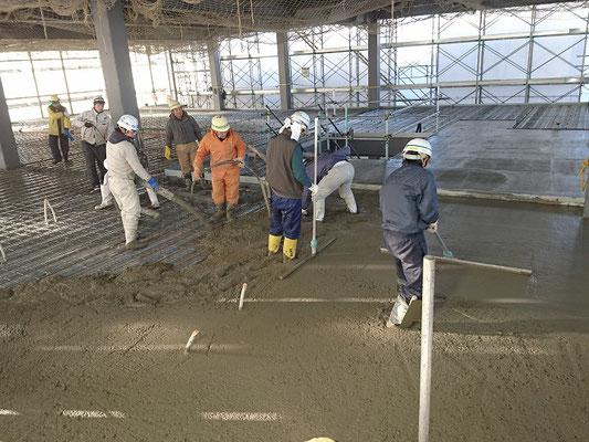 H30.12.21 2階フロアのコンクリート打設が行われました