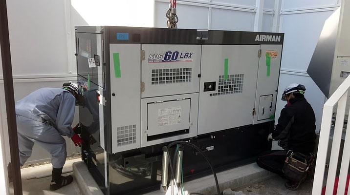 H31.3.28 非常用発電機が納品、設置されました