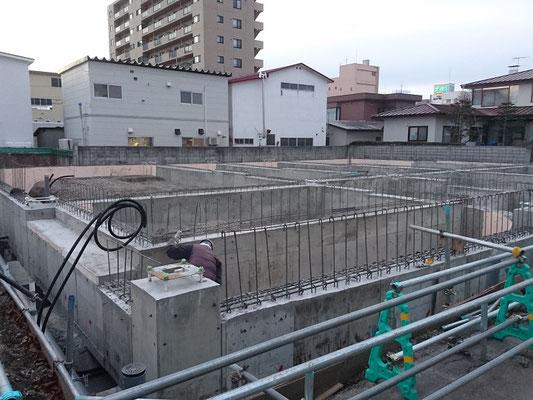 H30.11.12 基礎の脱型と地足場の撤去が完了しました