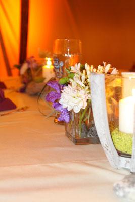 Tischdeko am Abend