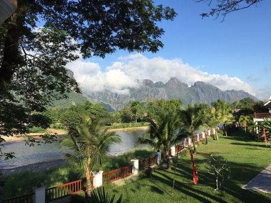 In Laos angekommen in Vang Vieng