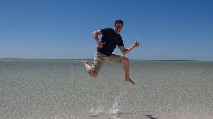 Am Shell Beach, Westaustralien, 2015