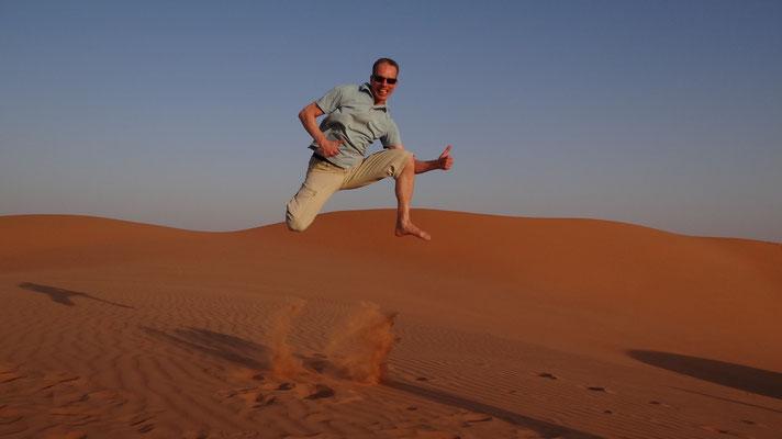 Dünen-Jump in Oman, 2016