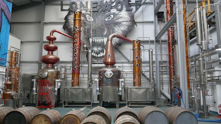 Aber nicht nur Bier, sondern auch Whisky und Gin wird hier gemacht