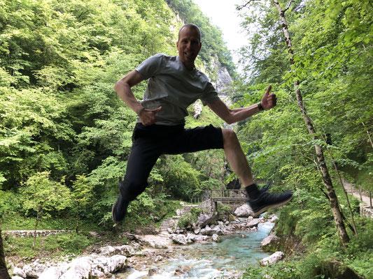 Tolmin Schlucht, Slowenien, Juni 2019