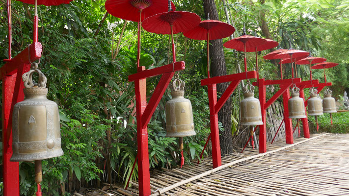 Unterwegs in den Tempelanlagen von Chiang Mai