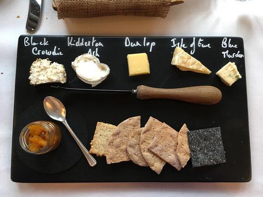 Käseselection im edlen Restaurant