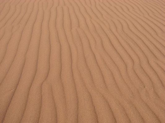 Überall Sand...