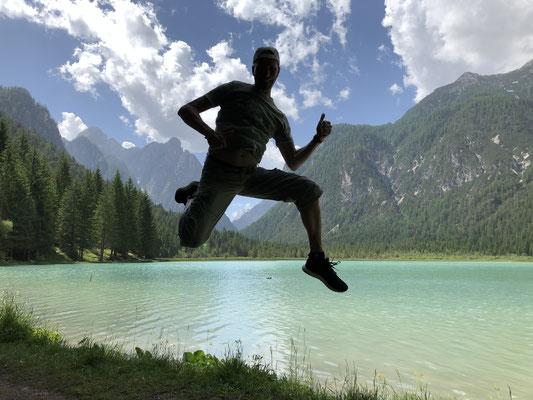 Toblacher See, Dolomiten Italien, Juni 2019