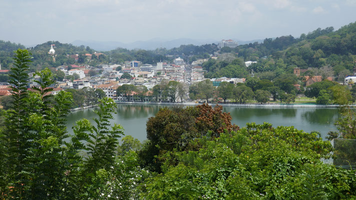 Blick auf Down Town Kandy