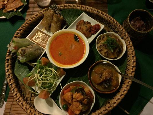 Ein feiner Lao-Sampler zum Abendessen