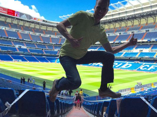 Im Estadio Santiago Bernabeu von Real Madrid, Spanien, Juni 2015