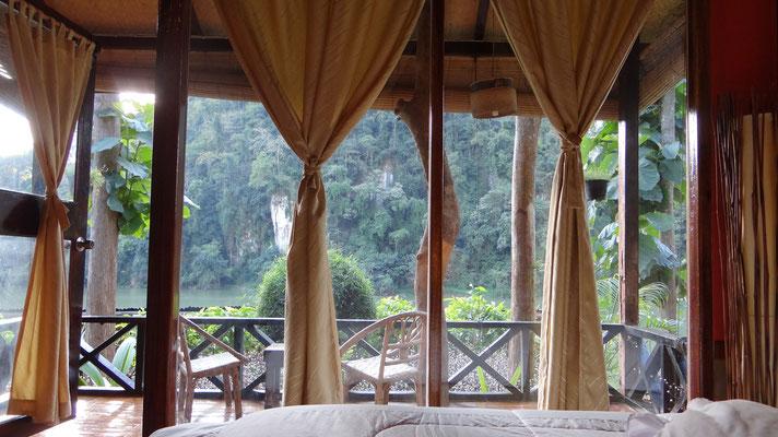 "In Nong Khiaw angekommen im schönen kleinen Resort ""Mandala Ou"""