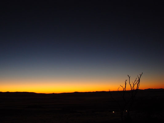Sunset in der Lodge