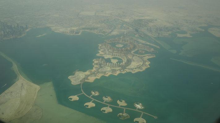 Anflug auf Doha