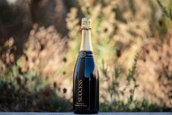 La bouteille de champagne success simplement