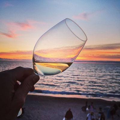 instagram, la côte Basque un de mes fiefs, savoureux dîner au bord de l'eau en direct du coucher de soleil