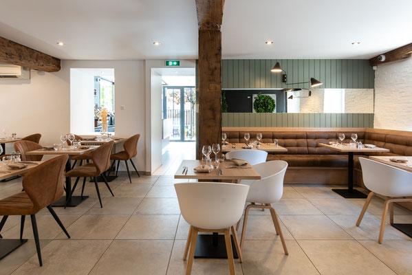 salle de restaurant réaménagé par un architecte