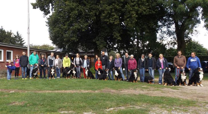 14 Berner beim Junghundetreffen 2014