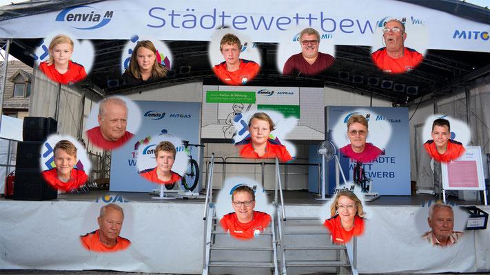 Unsere Teilnehmer am enviaM-Radel Städtewettbewerb