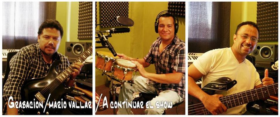 Gio, Carlos Franco y Carlos Veliz, grabacion para Mario Vallar