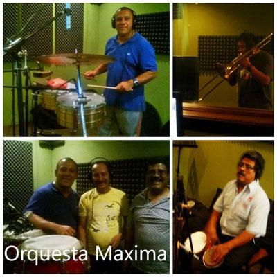 Grabacion de tema navideño Orquesta Maxima