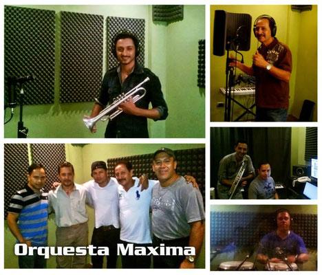 Grabacion del tema Tu maestro soy yo, con Dual C y Orquesta Maxima
