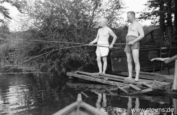 Angler an der Werse