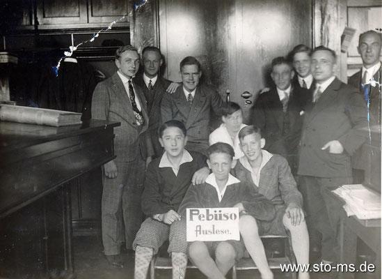 Lehrlinge Pebüso etwas 1930er Jahre