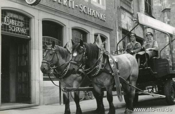 An der Lambertschänke am Alten Fischmarkt um 1965