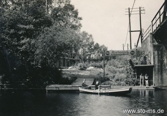 Bootsfahrt an der Werse bei Nobiskruge