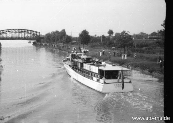 Hermann Göring in Münster- Seine Yacht Carin II auf dem Dortmund-Ems-Kanal