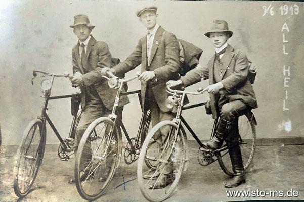 Auf Fahrradtour 1913