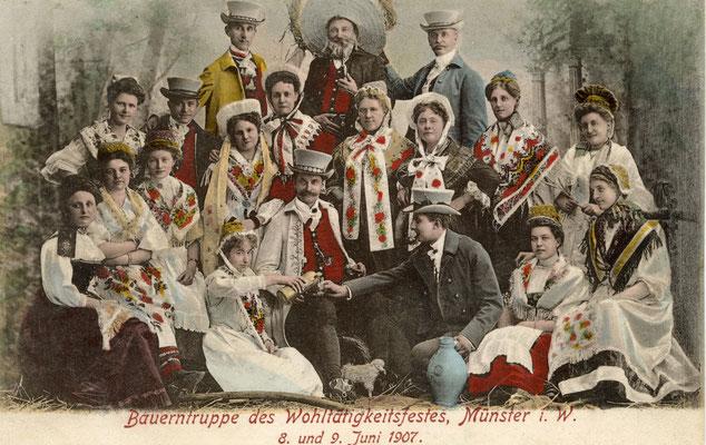 Bauerntruppe Wohltätigkeitsfest 1907
