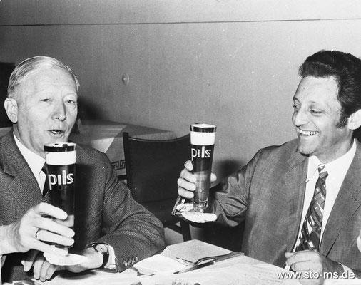 Hans Rosenthal mit Bürgermeister Albert Bruens, Telgte