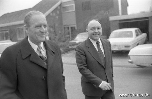 Bundespräsident Carl Carstens und Friedrich Adolf Jahn