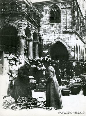 Markt auf dem Prinzipalmarkt 1910